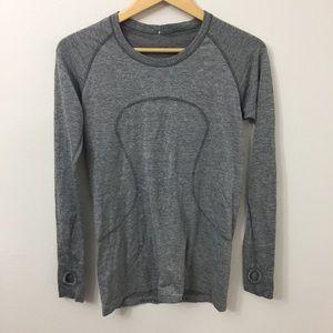 LULULEMON Size 10 Gray Swiftly Tech Long Sleeve